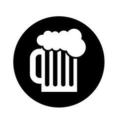 Beer in jar isolated icon vector