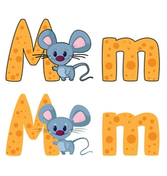 letter M mouse vector image