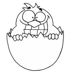 Cartoon egg hatching vector