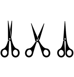 black scissors vector image