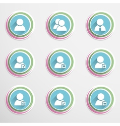 User buttons vector image