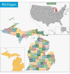 Michigan map vector