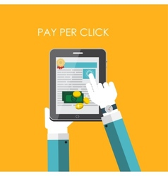 Pay per click flat concept for web marketing vector