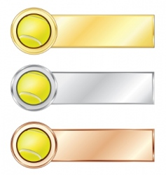 Tennis medals vector
