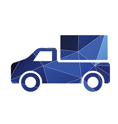 Truck icon abstract triangle vector