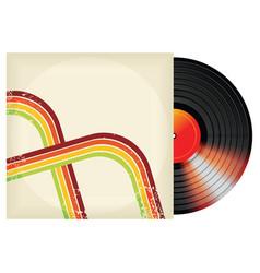 retro vinyl design vector image