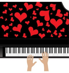 Heart love music piano playing a song for valentin vector