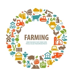 Farm logo design template farming harvest vector