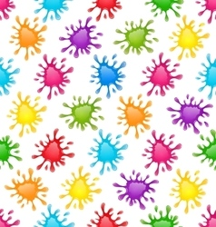 Pattern colorful stains blots splashes seamless vector