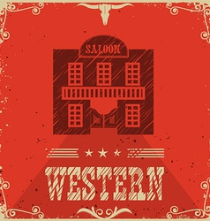 Western saloon poster bacground vector