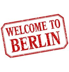Berlin - welcome red vintage isolated label vector