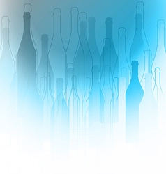 Bottles silhouette background vector image