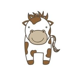 Cow cartoon icon animal farm design vector