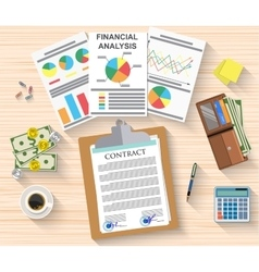 Agreement documents concept vector