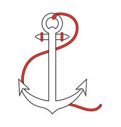 anchor nautical icon image vector image