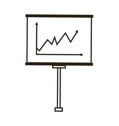 Board chart graph statistics presentation business vector
