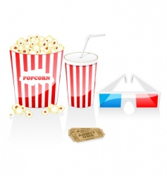 cinema elements vector image vector image