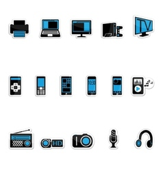 Consumer electronics icon vector