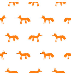 cute fox animal seamless pattern vector image