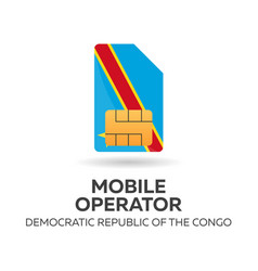 democratic republic of the congo mobile operator vector image