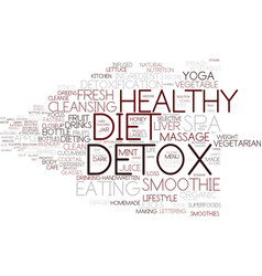 Detox word cloud concept vector