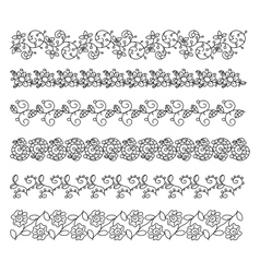 Doodle style brushes for your creative decorative vector image