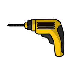 Drill electric tool icon vector