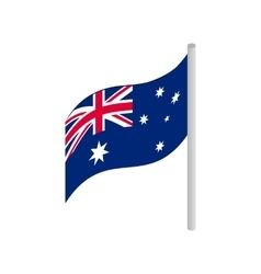Flag of Australia icon isometric 3d style vector image vector image