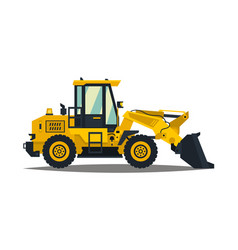 Front-end loader isolated on white background vector