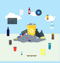 garbage dump or landfill card poster vector image