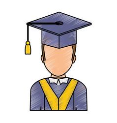 Graduation man design vector