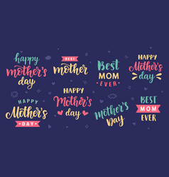 happy mothers day greeting cards posters set vector image vector image