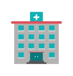 Hospital building of medical care design vector