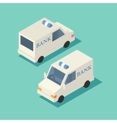 Isometric bank car icon vector