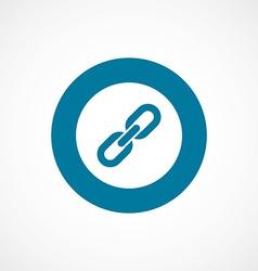 Link bold blue border circle icon vector