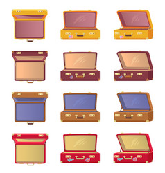 lot of opened colorful cases vector image