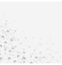 Molecule structure gray background vector image vector image