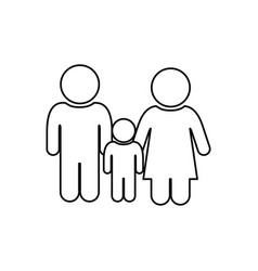 monochrome contour of pictogram with couple and vector image vector image