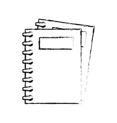 Note books isolated vector