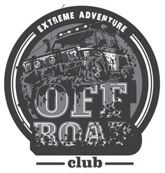 off-road car logo mud terrain suv expedition vector image