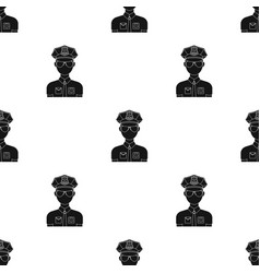 police officer icon in black style isolated on vector image vector image