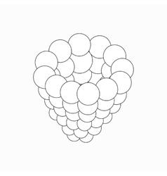 Raspberry icon isometric 3d style vector image