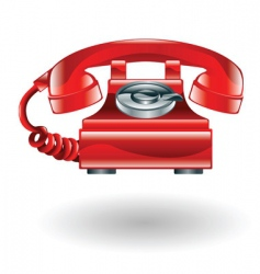 retro phone illustration vector image vector image
