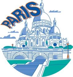 Sacrecoeur in Paris vector image vector image
