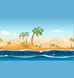 seamless tropical beach landscape vector image