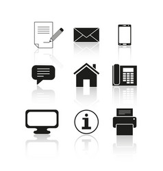 set of contact message icons vector image vector image