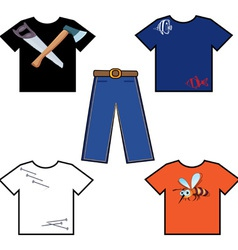 shirts and pants vector image vector image