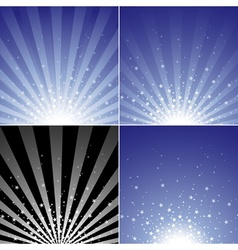 Star Burst Set vector image vector image