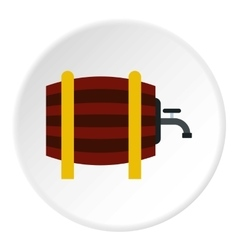 Beer barrel in pub icon flat style vector