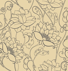 Ornate floral seamless texture vector